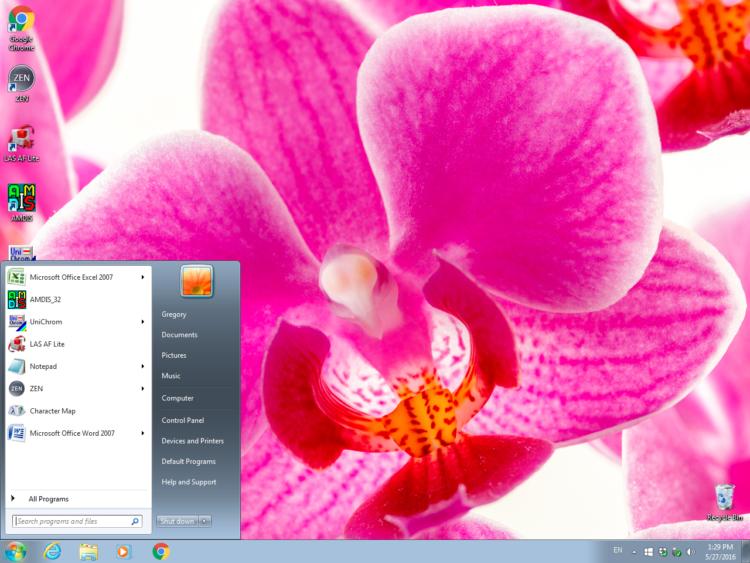 Рабочий стол Windows 7 x64