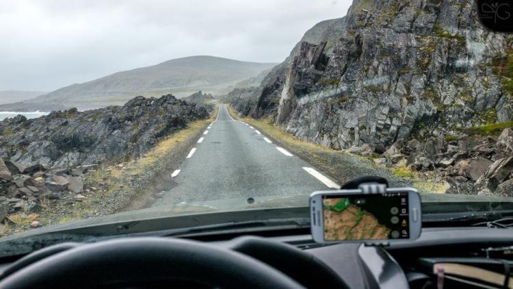 Норвегия, п-ов Варангер, дорога на Хамнингберг